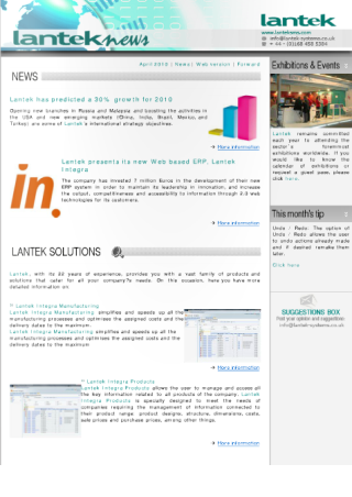 Lantek News December 2009