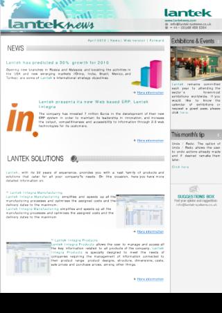 Lantek News Décembre 2009