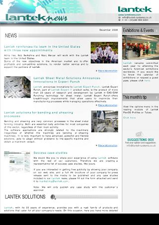 Lantek News Automne 2009