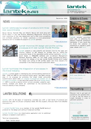 Lantek News September 2009