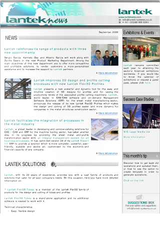 Aktualności firmy Lantek wrzesień 2009 r.