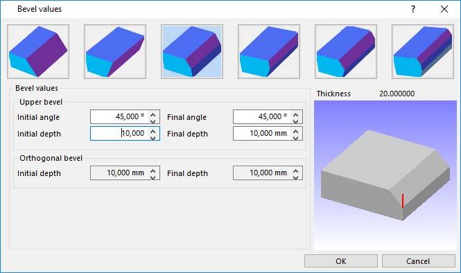 Lantek Expert Cut  - 기술 설정