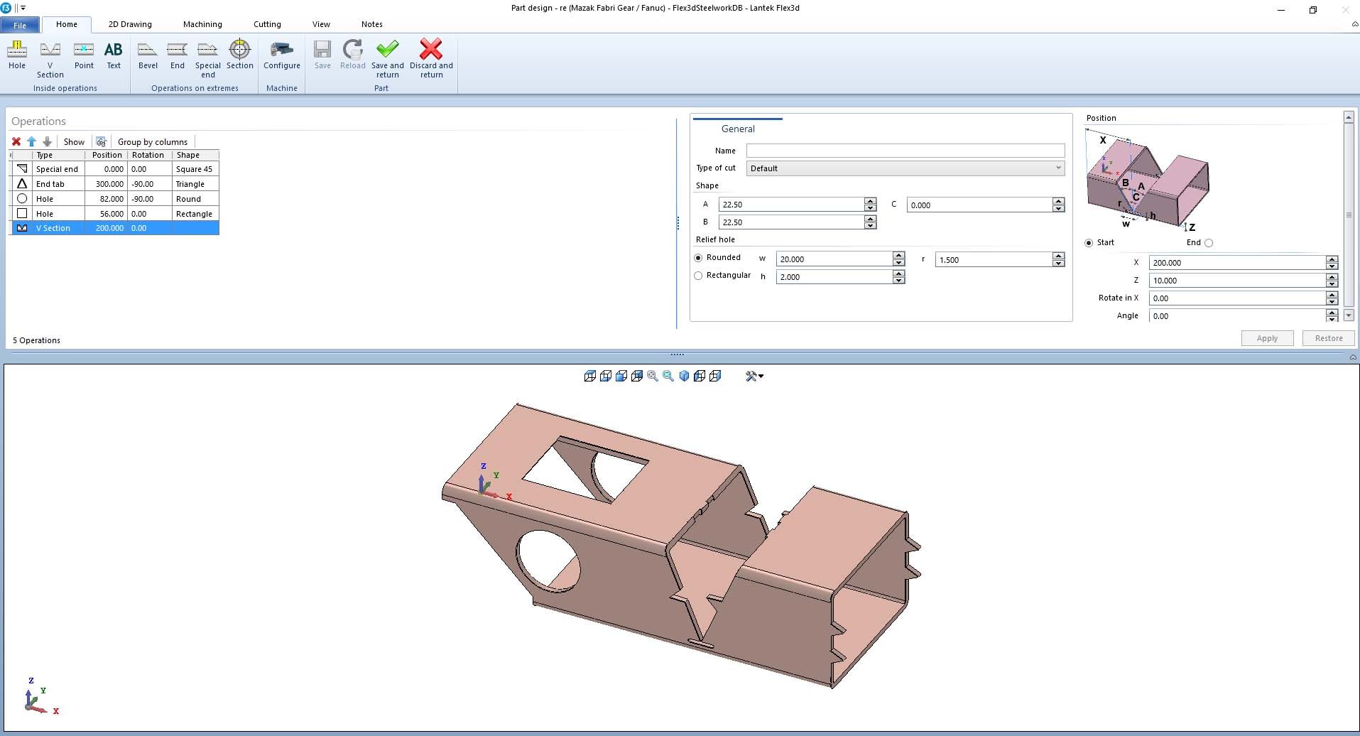 Lantek Flex3d Steelwork  - Import parts