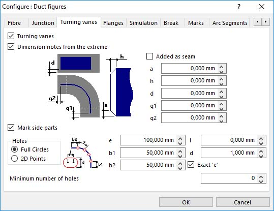 Lantek Expert Duct  - Configure turning vanes