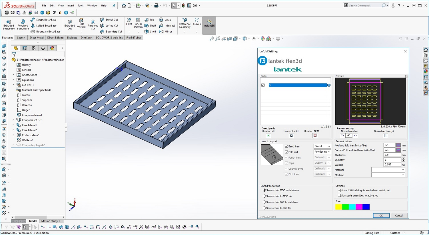 Import native CAD drawings from CAD systems - Lantek Flex3d