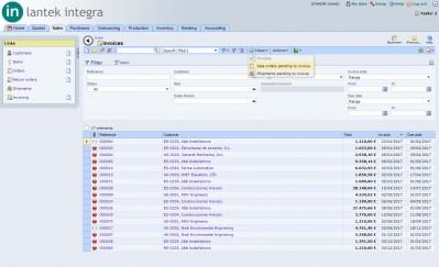 Lantek Integra Sales  - Rechnungen