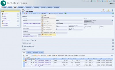 Lantek Integra Sales  - Commande client