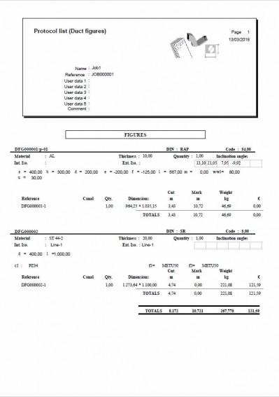 Lantek Expert Duct  - Reports