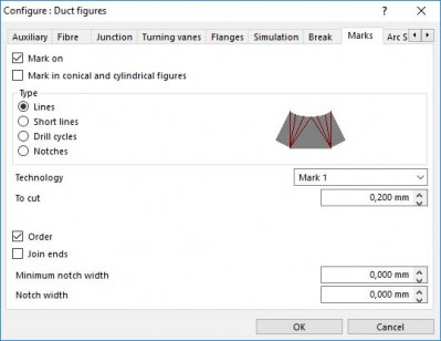 Lantek Expert Duct  - Configurer les marquages