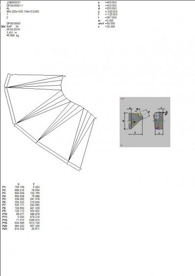 Lantek Expert Duct  - Zeichnung