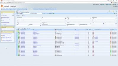 Lantek Integra Manufacturing  - Production Tracking